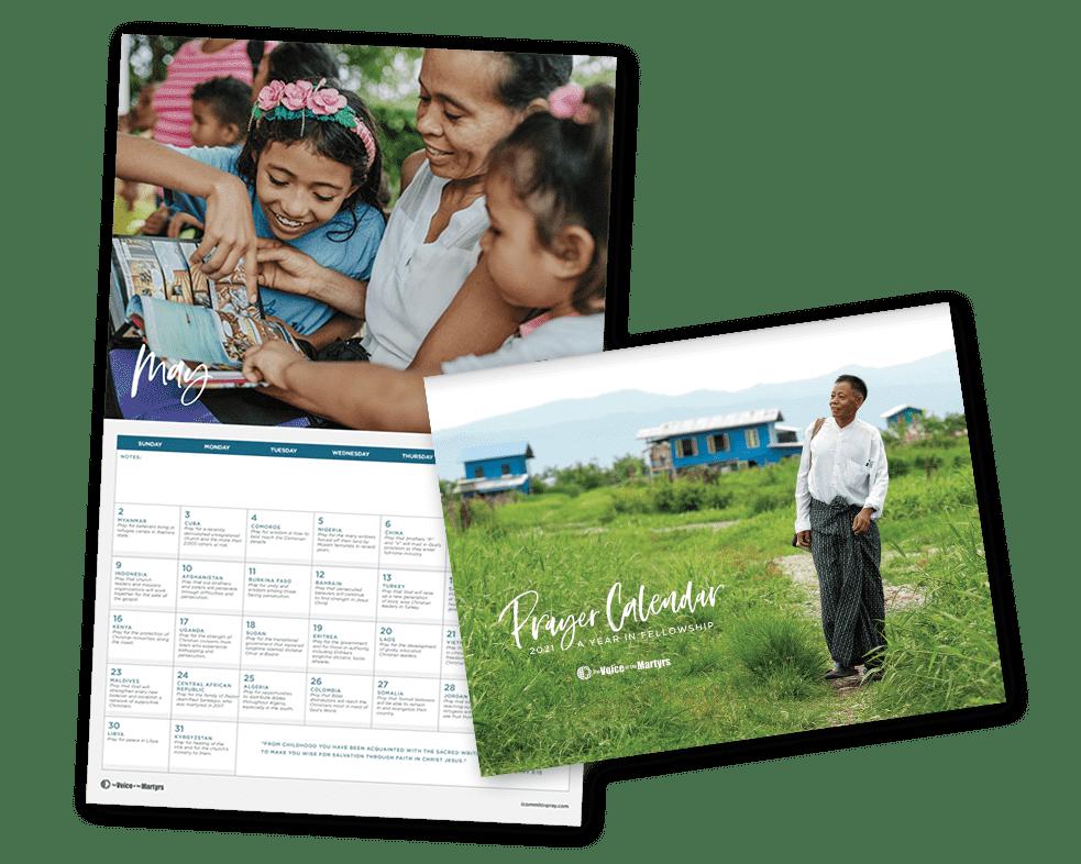 Prayer Calendar cover