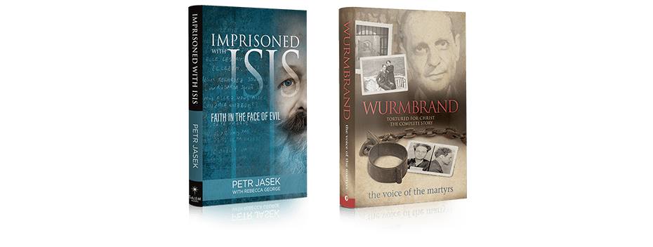 Covers of 'Imprisoned with ISIS' and 'Wurmbrand' books