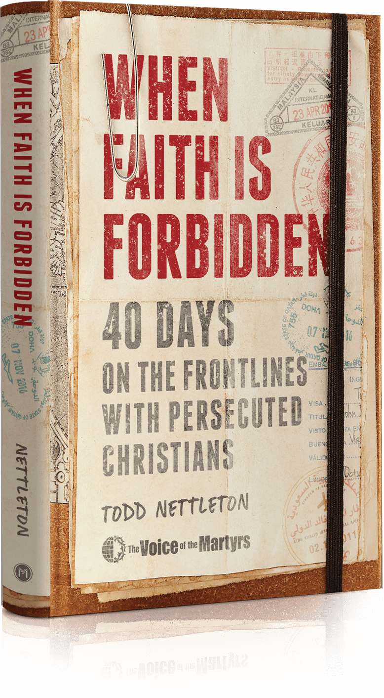 3d representation of front of When Faith is Forbidden book