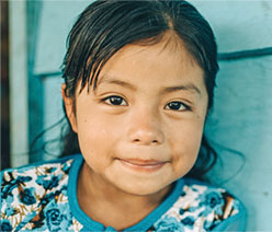 Displaced girl from Mexico.