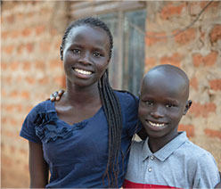 Persecuted children from Uganda.