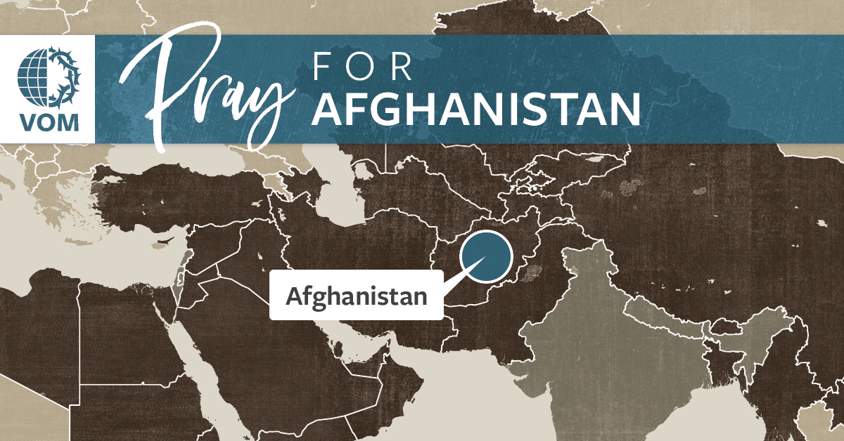 Map of Afghanistan's location