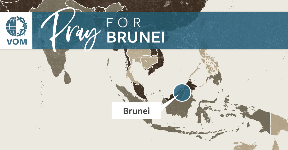 Map of Brunei's location