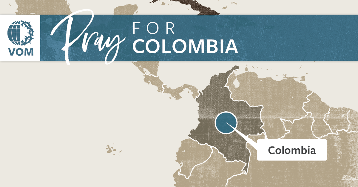 Map of Colombia's location