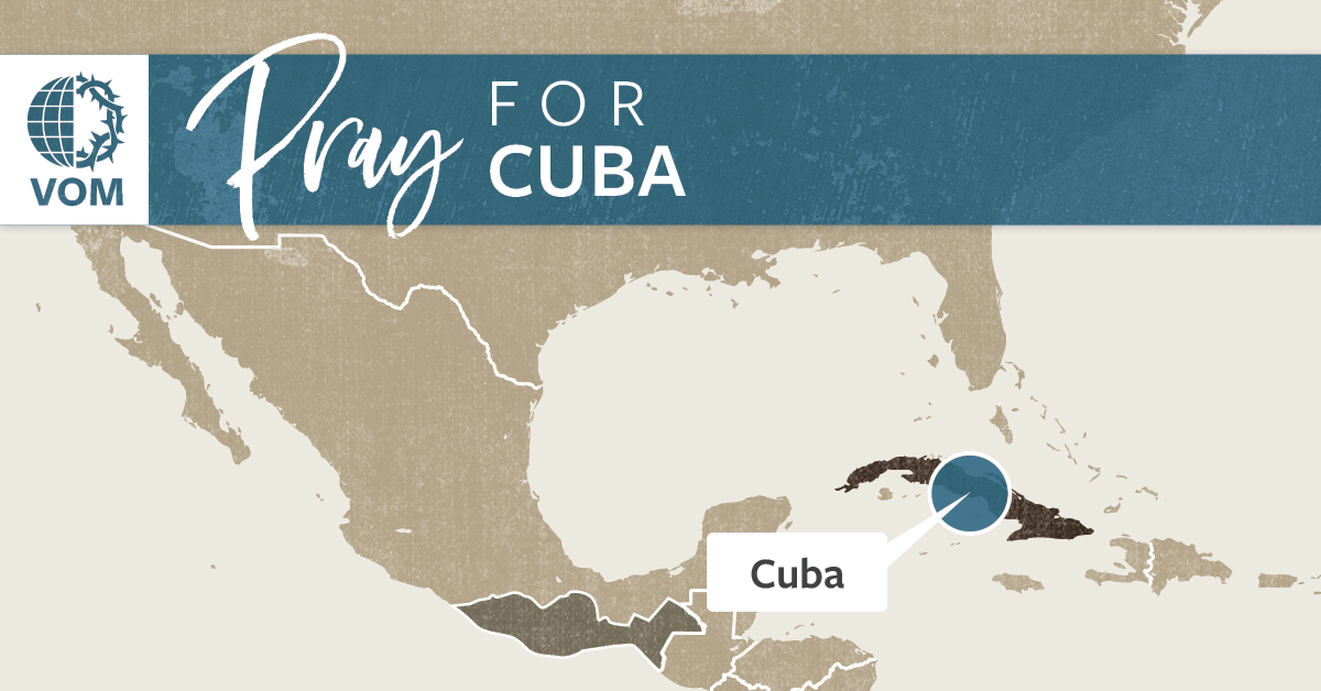 Map of Cuba's location
