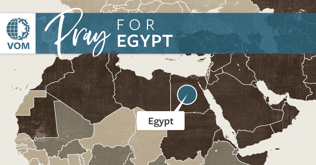 Map of Egypt's location