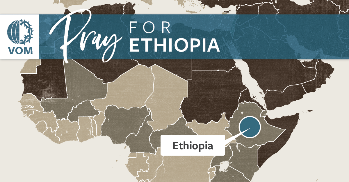 Map of Ethiopia's location