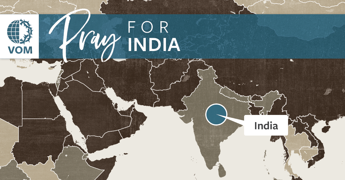Map of India's location