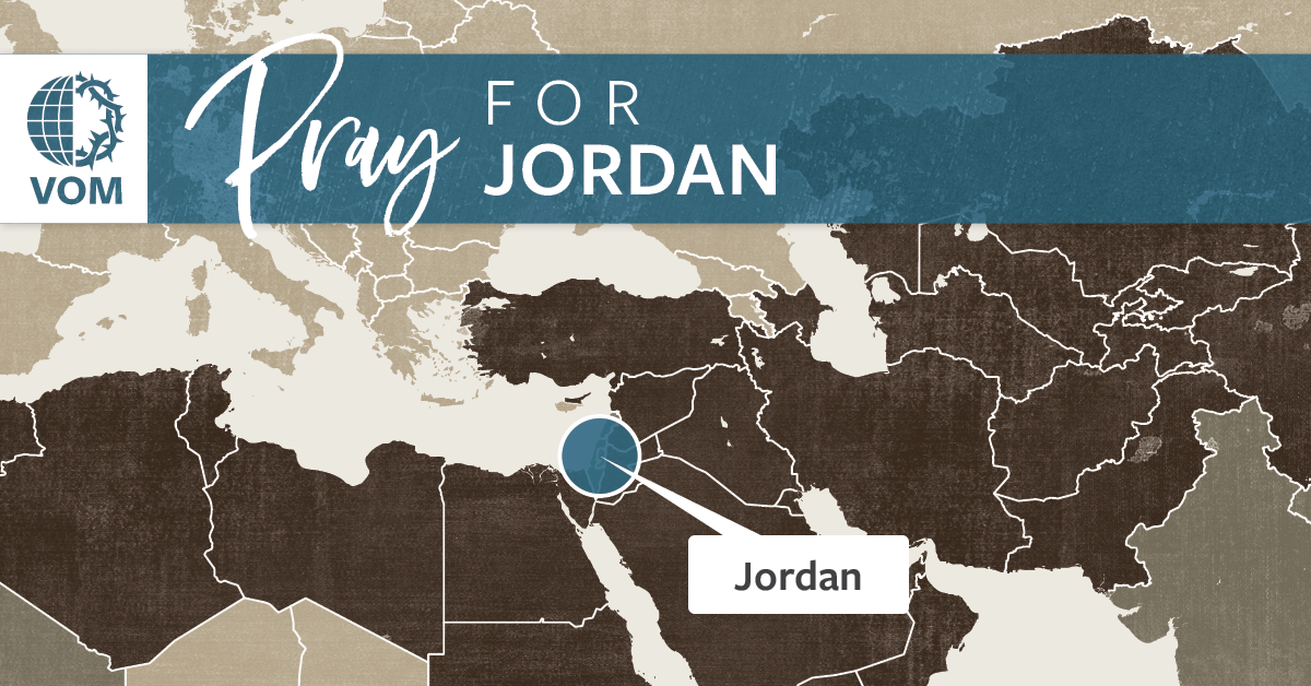 Map of Jordan's location