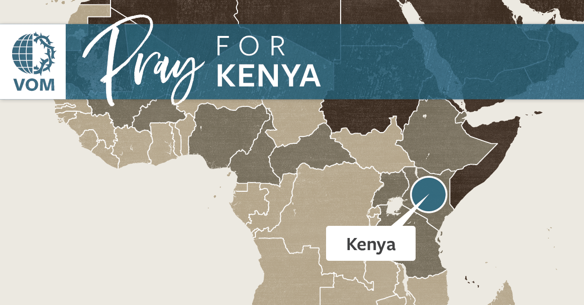 Map of Kenya's location