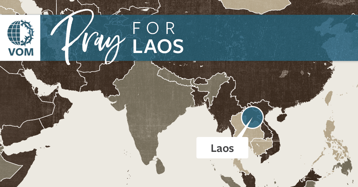 Map of Laos's location