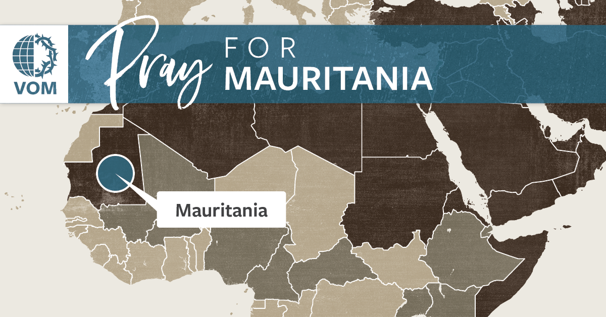 Map of Mauritania's location