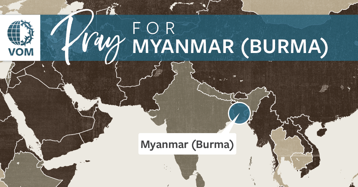 Map of Myanmar (Burma)'s location