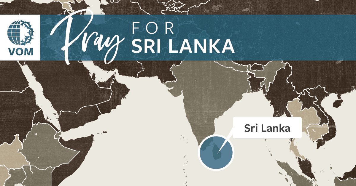Map of Sri Lanka's location