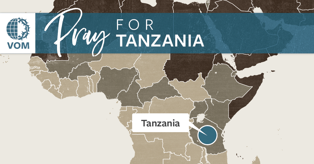 Map of Tanzania's location