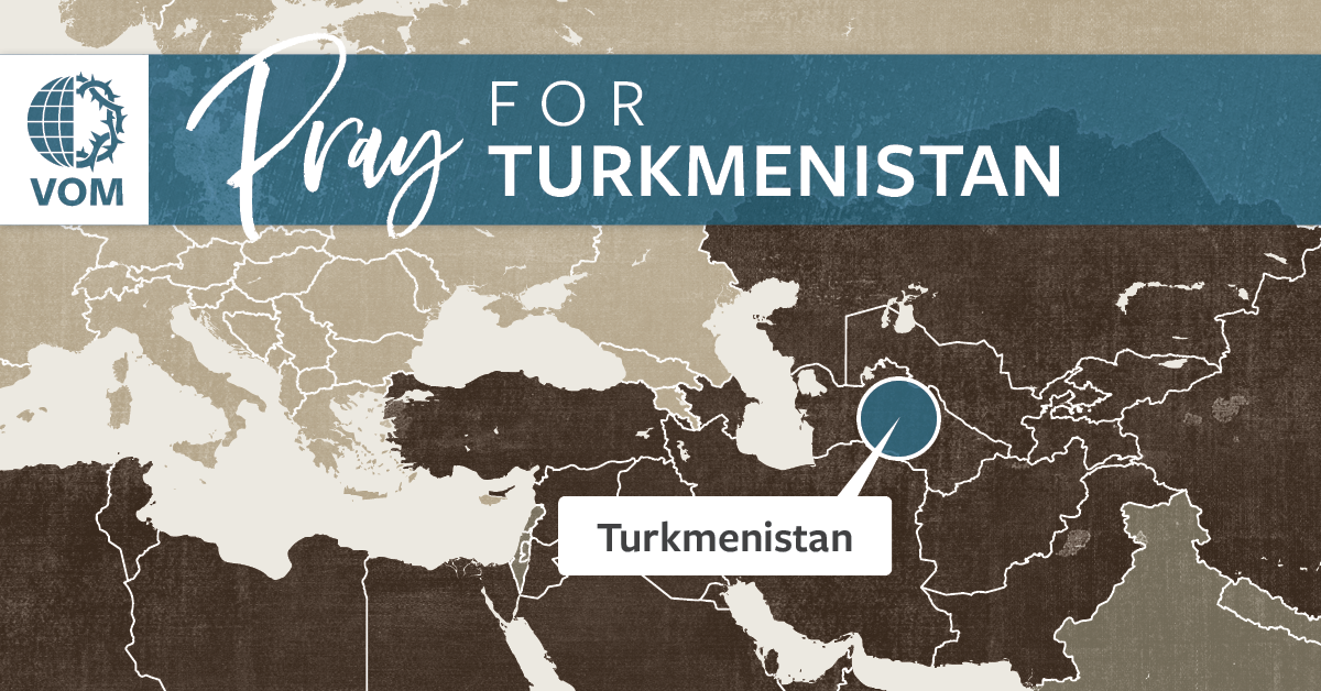 Map of Turkmenistan's location