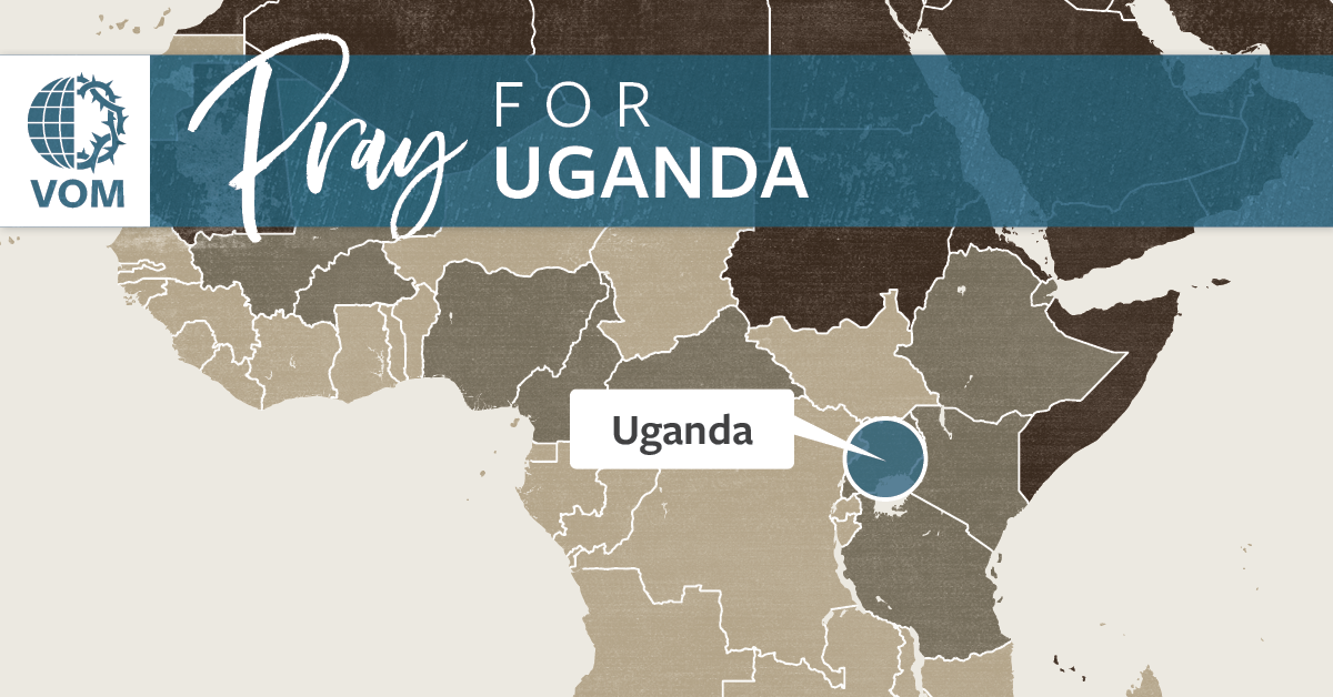 Map of Uganda's location