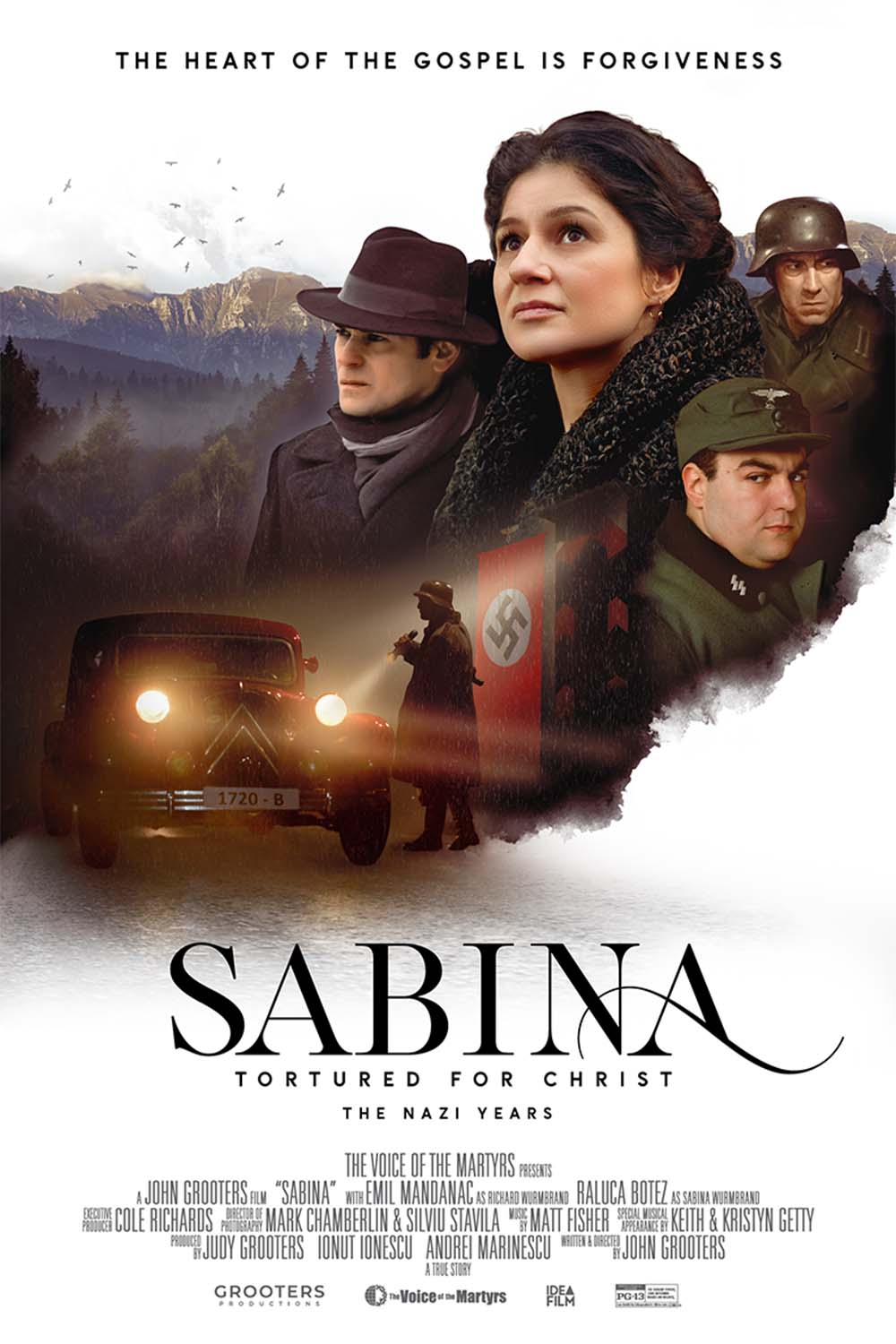 Movie poster showing faces from Sabina the movie