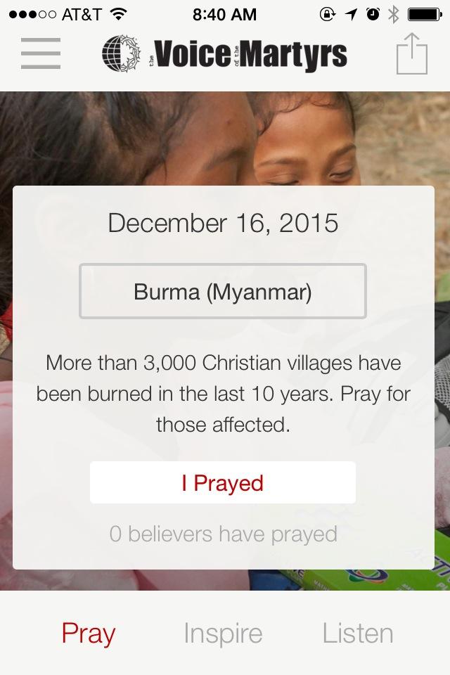 iOS App Screenshot - Prayer for Today
