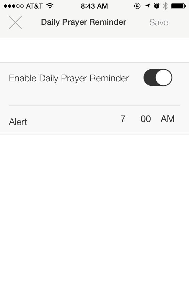 iOS App Screenshot - Prayer Reminder